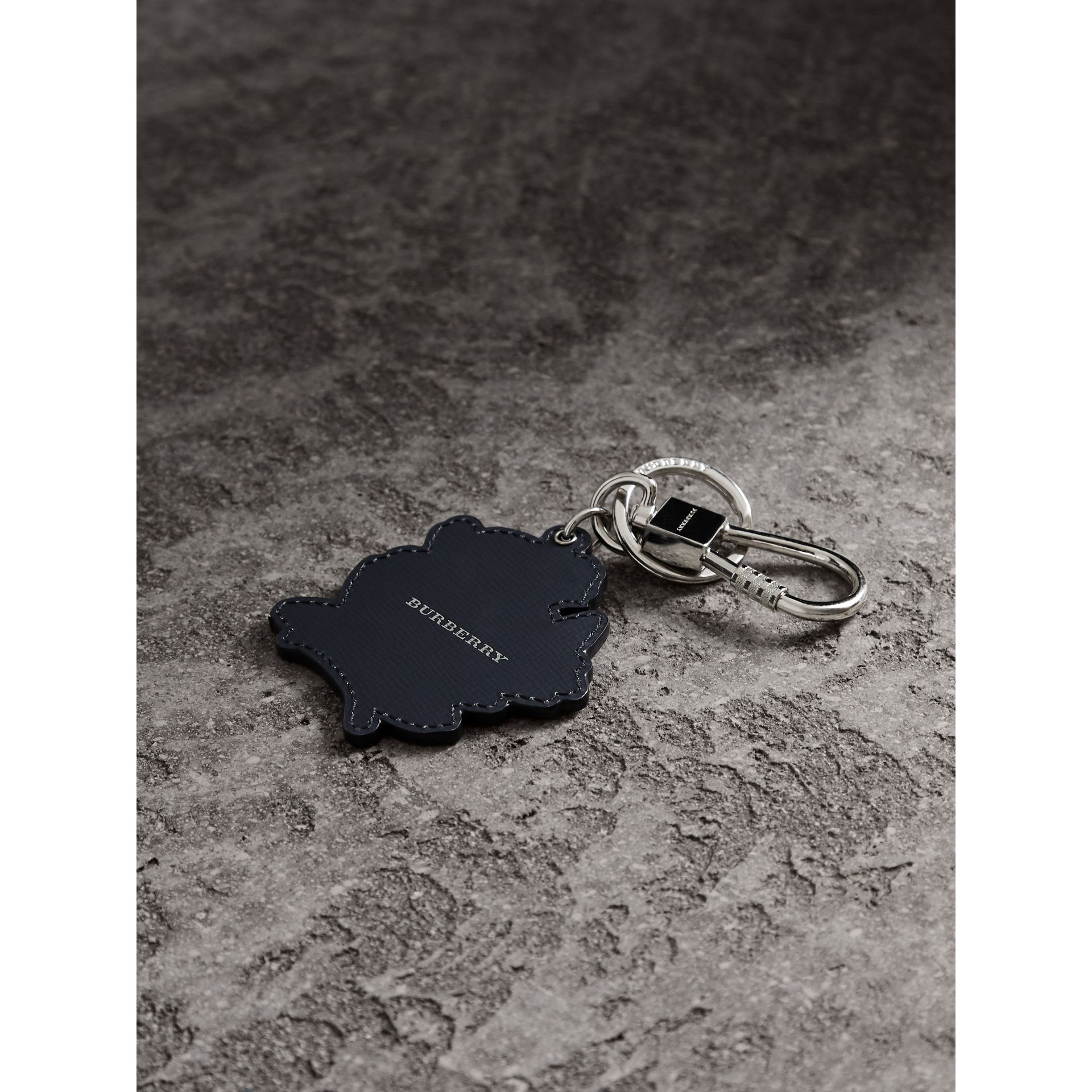 Beasts Leather Key Ring in Mauve Pink | Burberry - gallery image 4