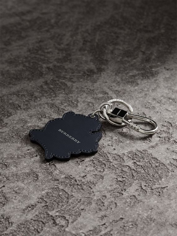 Beasts Leather Key Ring in Mauve Pink | Burberry - cell image 3