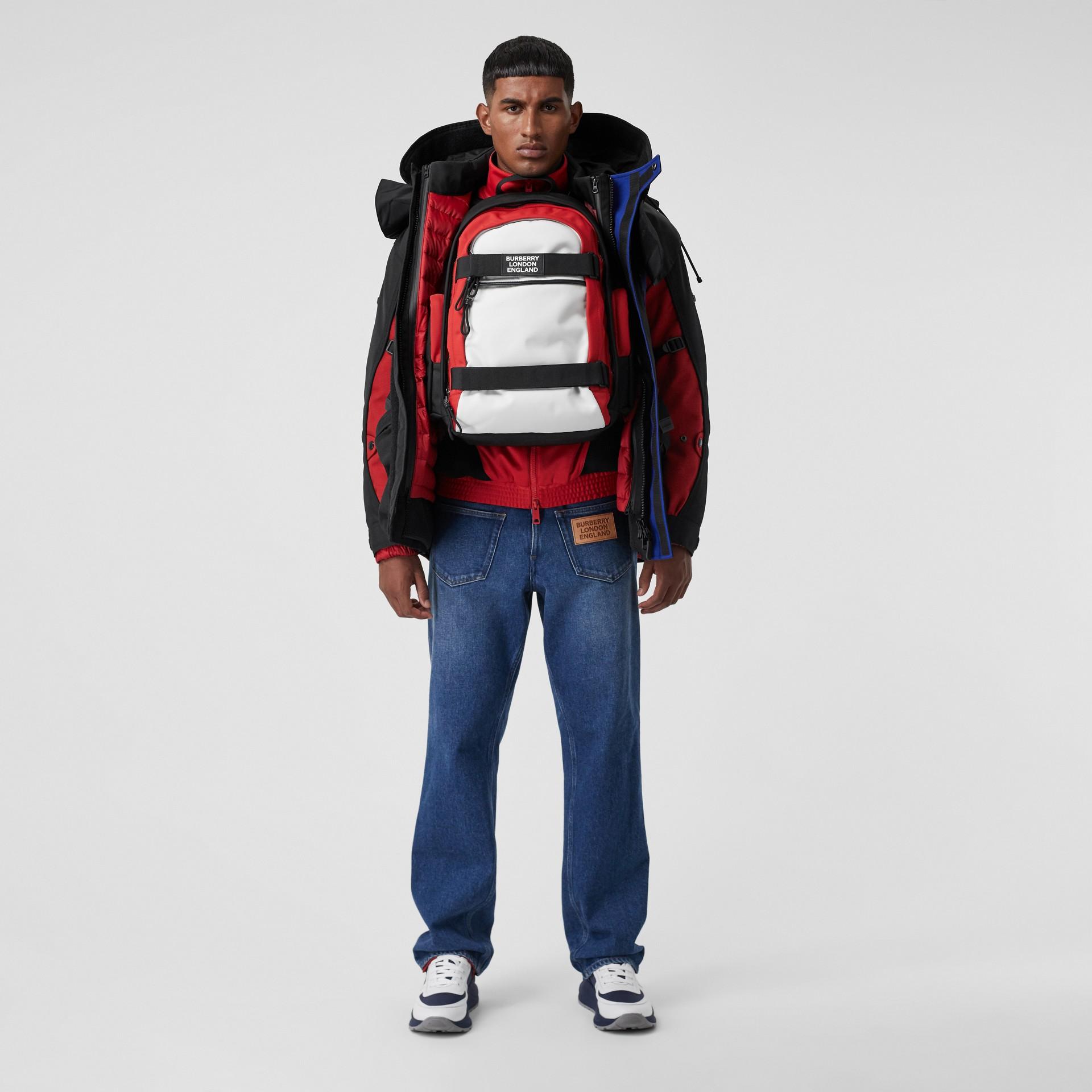 Veste de survêtement en jersey et néoprène avec logo appliqué (Rouge Vif) - Homme | Burberry - photo de la galerie 7