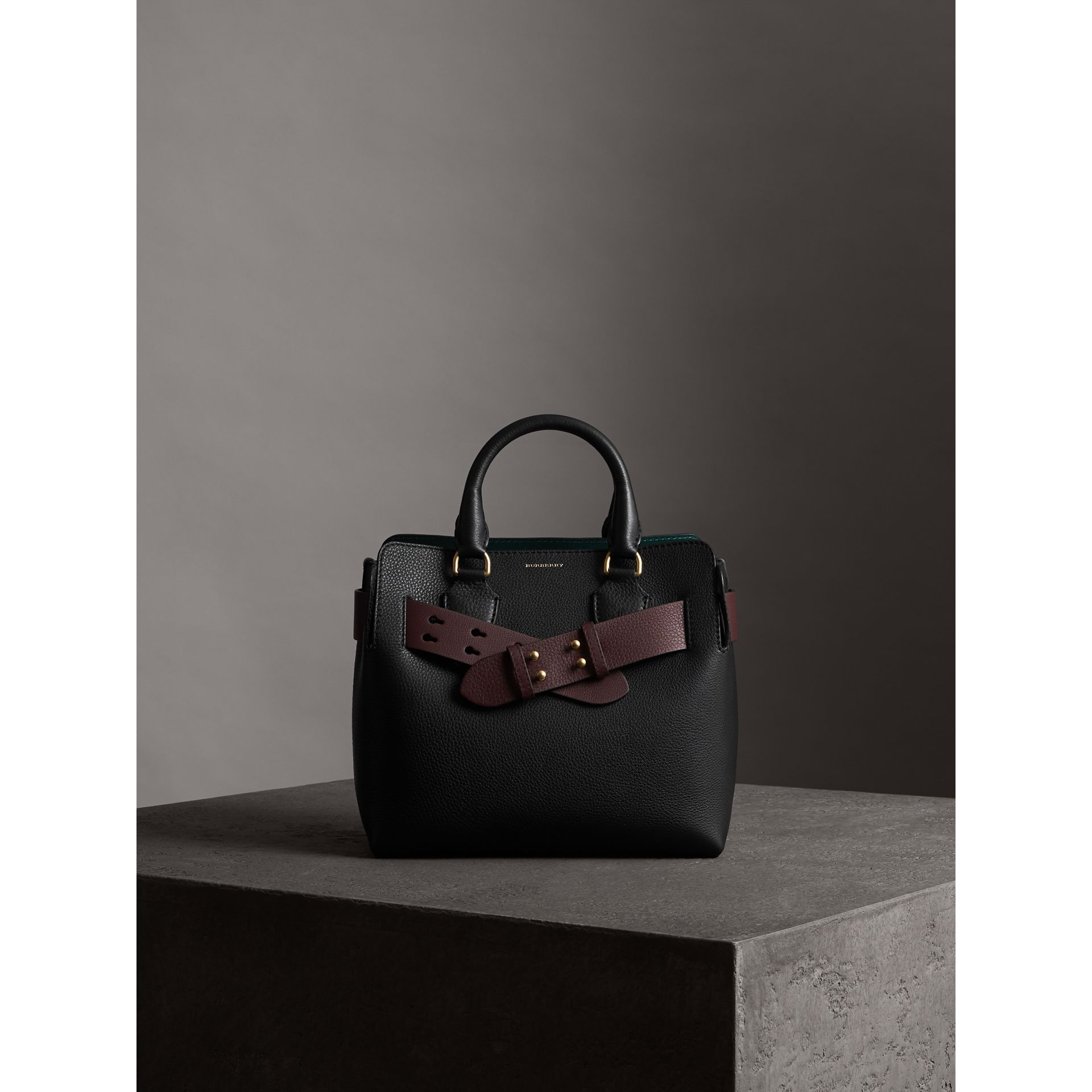 The Small Belt Bag Grainy Leather Belt in Deep Claret - Women | Burberry United Kingdom - gallery image 3