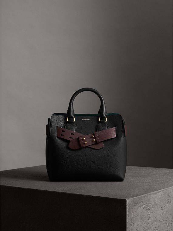 The Small Belt Bag Grainy Leather Belt in Deep Claret - Women | Burberry United Kingdom - cell image 3