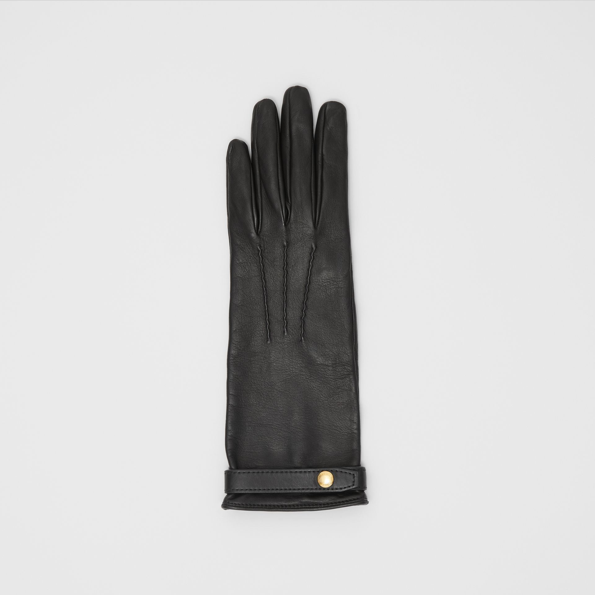 Silk-lined Lambskin Gloves in Black - Women | Burberry United States - gallery image 2