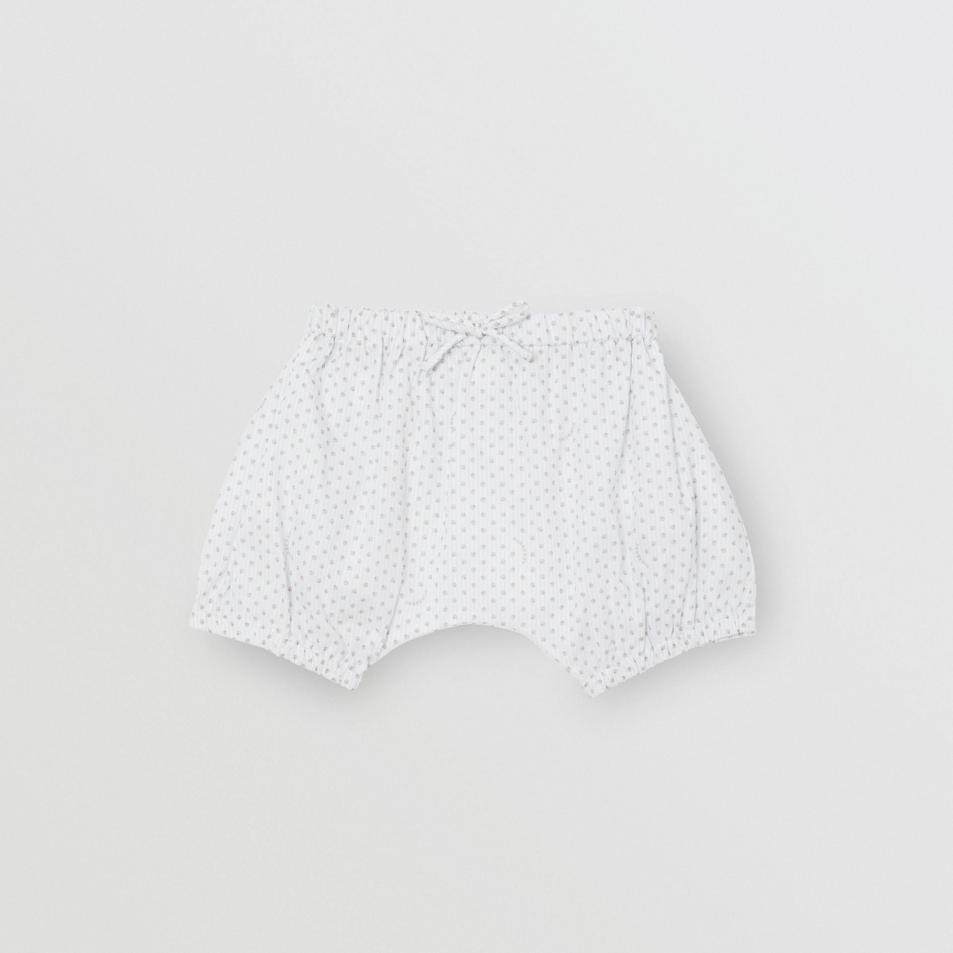 Polka Dot Cotton Three-piece Baby Gift Set in Natural White - Children | Burberry - gallery image 4