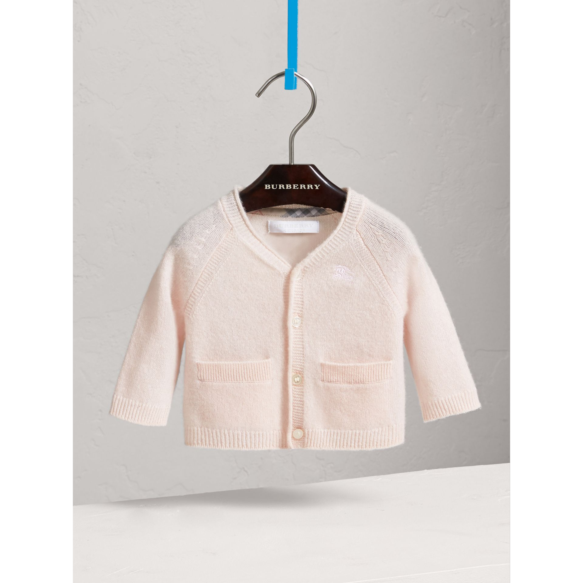 Classic Cashmere Cardigan in Powder Pink | Burberry United States - gallery image 0