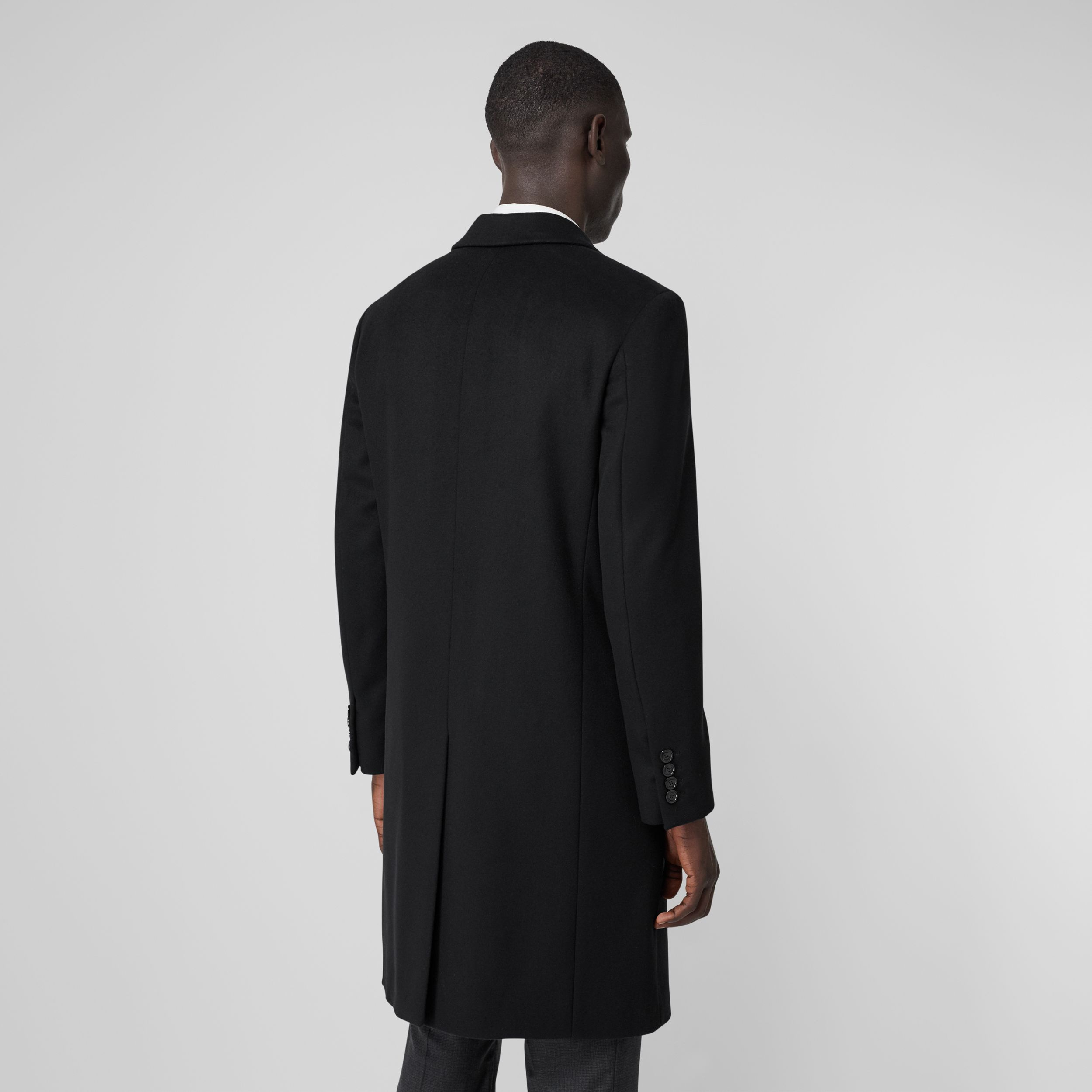 Wool Cashmere Tailored Coat in Black - Men | Burberry - 3