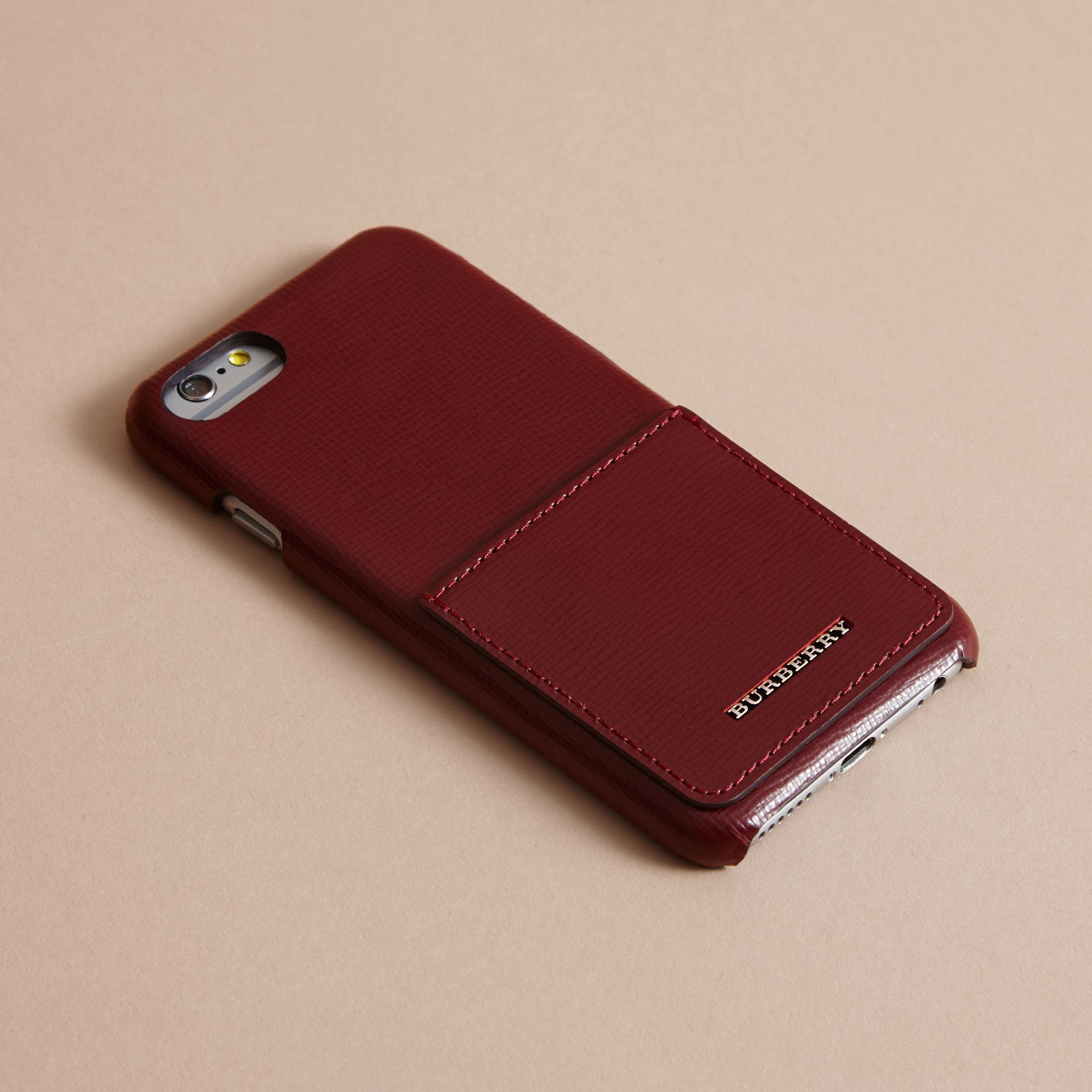 Grainy Leather iPhone 7 Case Burgundy Red - gallery image 3