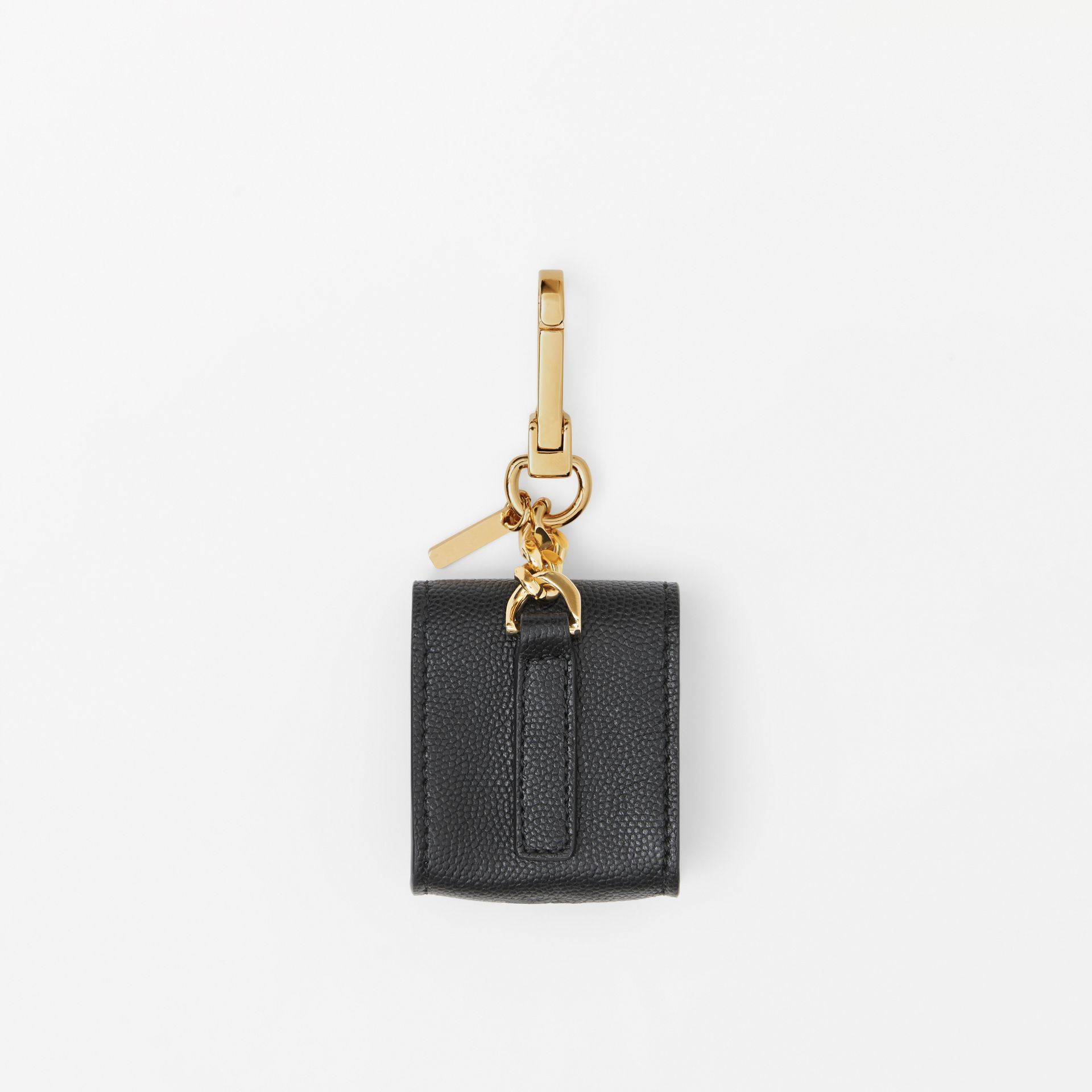Grainy Leather Earphone Case in Black | Burberry Australia - gallery image 3