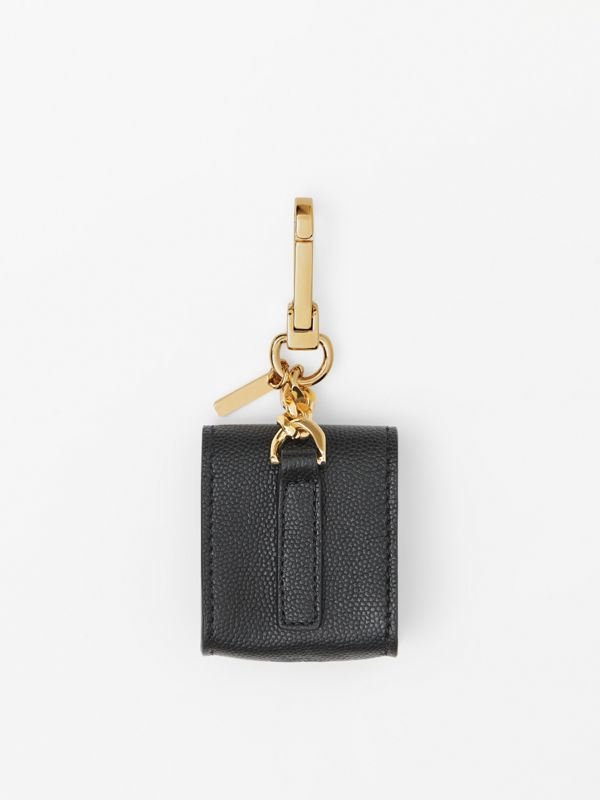 Grainy Leather Earphone Case in Black | Burberry - cell image 3