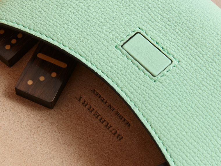 Wooden Domino Set with Grainy Leather Case in Light Mint - Women | Burberry Australia - cell image 1