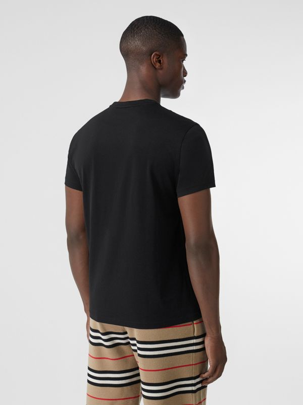 Monogram Motif Cotton T-shirt in Black - Men | Burberry - cell image 2