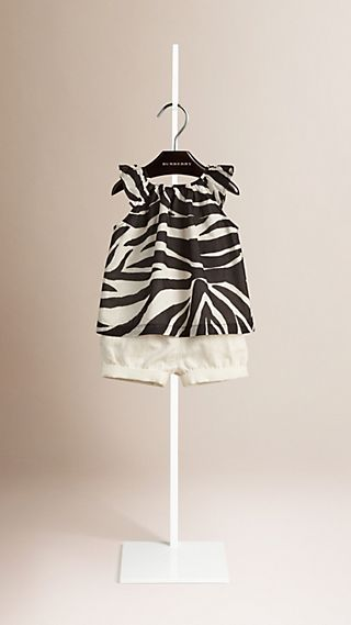 Zebra Print A-line Cotton Top