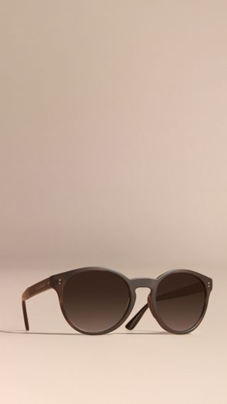 Folding Round Frame Sunglasses