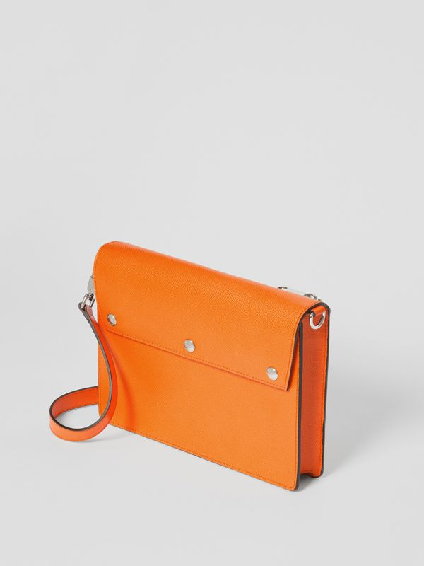 Triple Stud Grainy Leather Crossbody Bag in Bright Orange - Men | Burberry - cell image 3