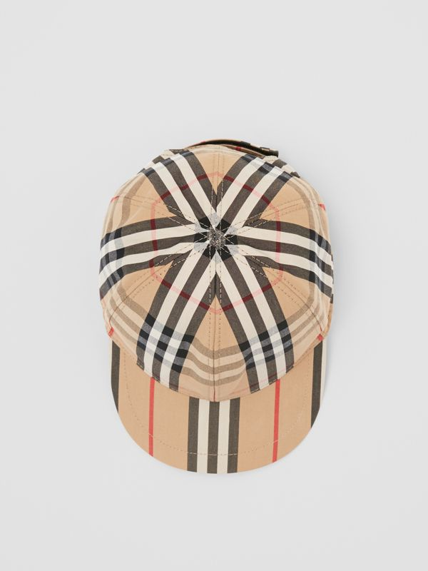 Vintage Check and Icon Stripe Baseball Cap in Archive Beige - Children | Burberry Australia - cell image 2