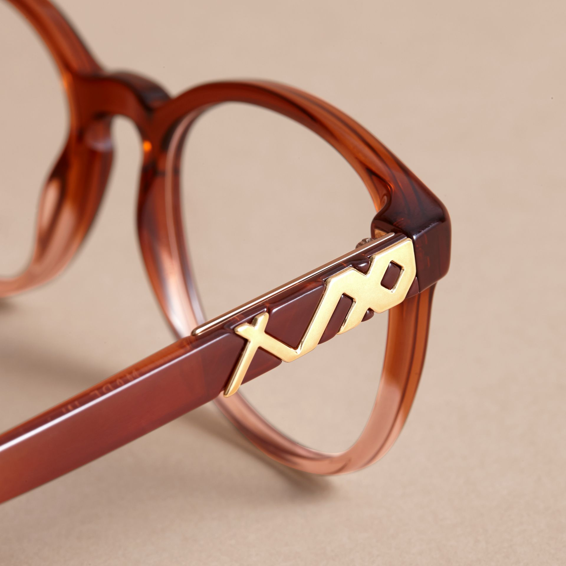 Check Detail Round Optical Frames - gallery image 2