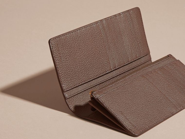 Deep taupe brown Grainy Leather Continental Wallet Deep Taupe Brown - cell image 4