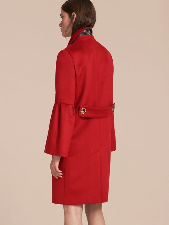 Parade red Tailored Wool Cashmere Coat with Bell Sleeves Parade - cell image 2