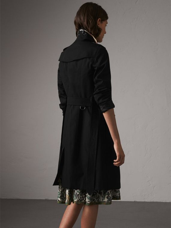The Sandringham – Long Trench Coat in Black - Women | Burberry - cell image 2
