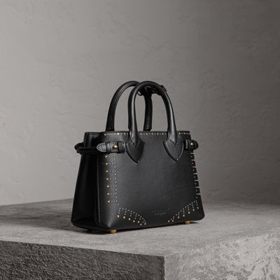 The Small Banner In Riveted Leather by Burberry