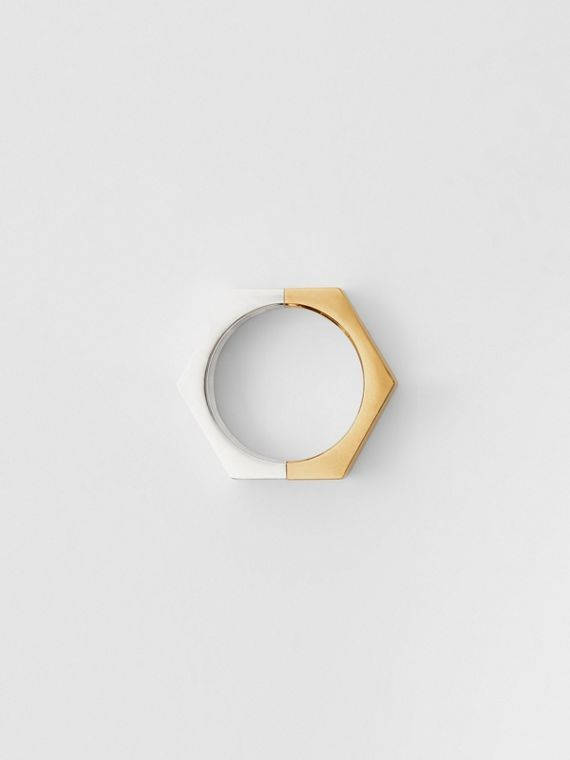 Gold and Palladium-plated Nut Ring in Light Gold/palladio