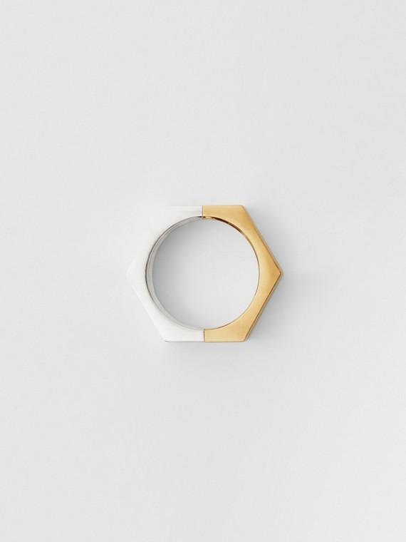 鍍金及鍍鈀金螺母戒指 (淺金色/帕拉迪歐色)