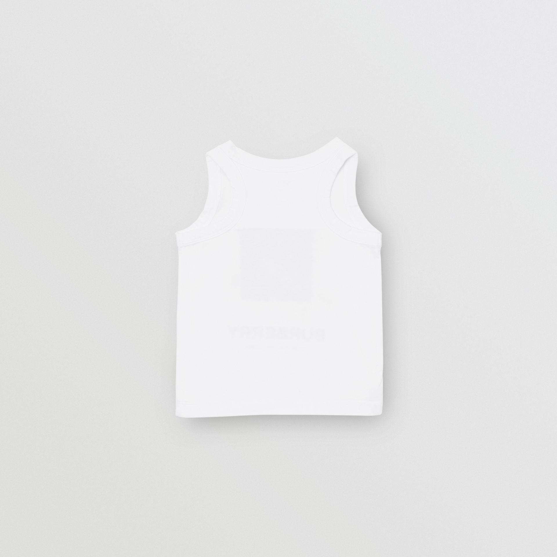 Vintage Photo Print Cotton Vest in White - Children | Burberry United Kingdom - gallery image 3