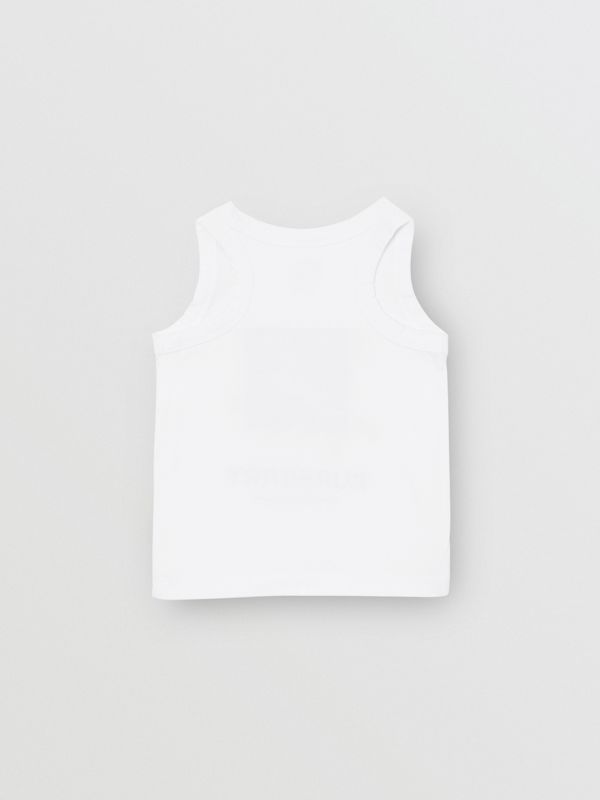 Vintage Photo Print Cotton Vest in White - Children | Burberry - cell image 3