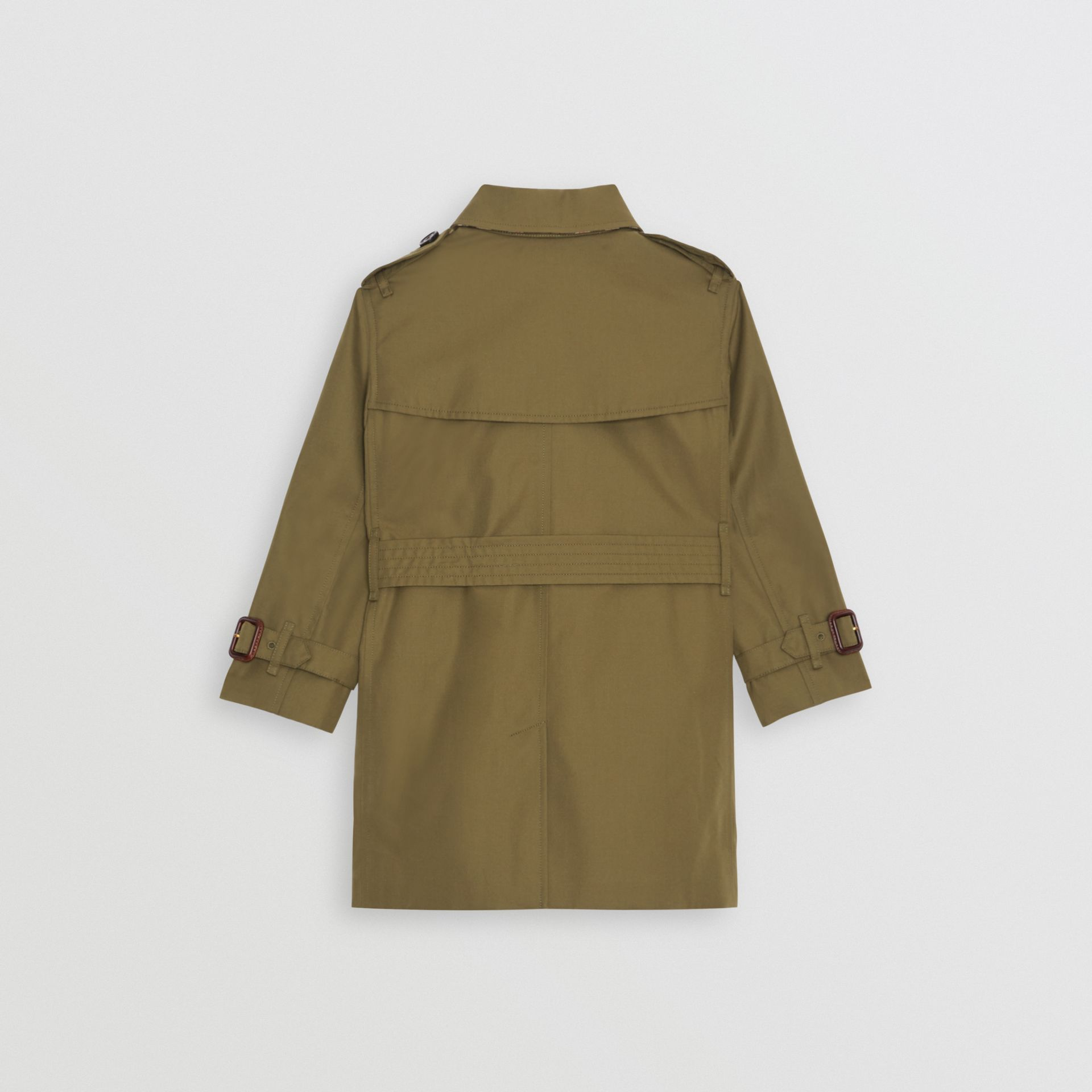 Cotton Gabardine Trench Coat in Military Olive | Burberry - gallery image 4