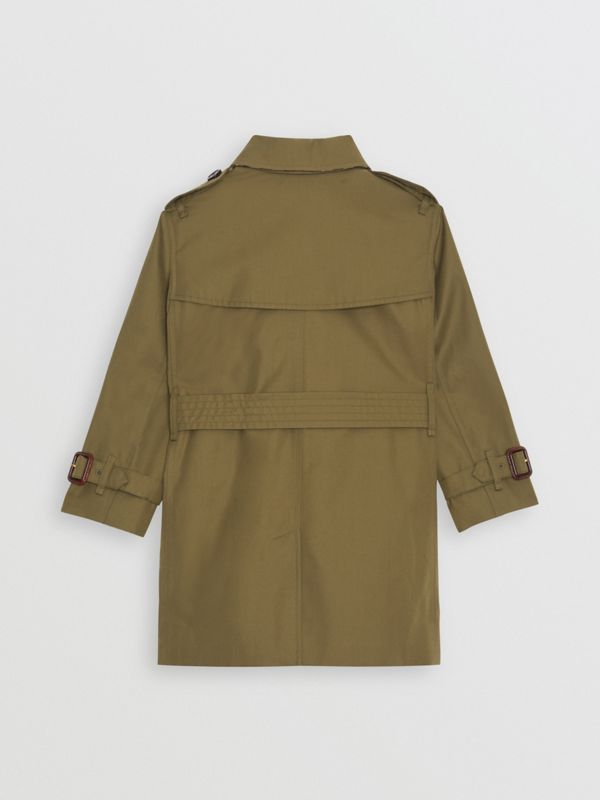 Cotton Gabardine Trench Coat in Military Olive | Burberry Hong Kong - cell image 3