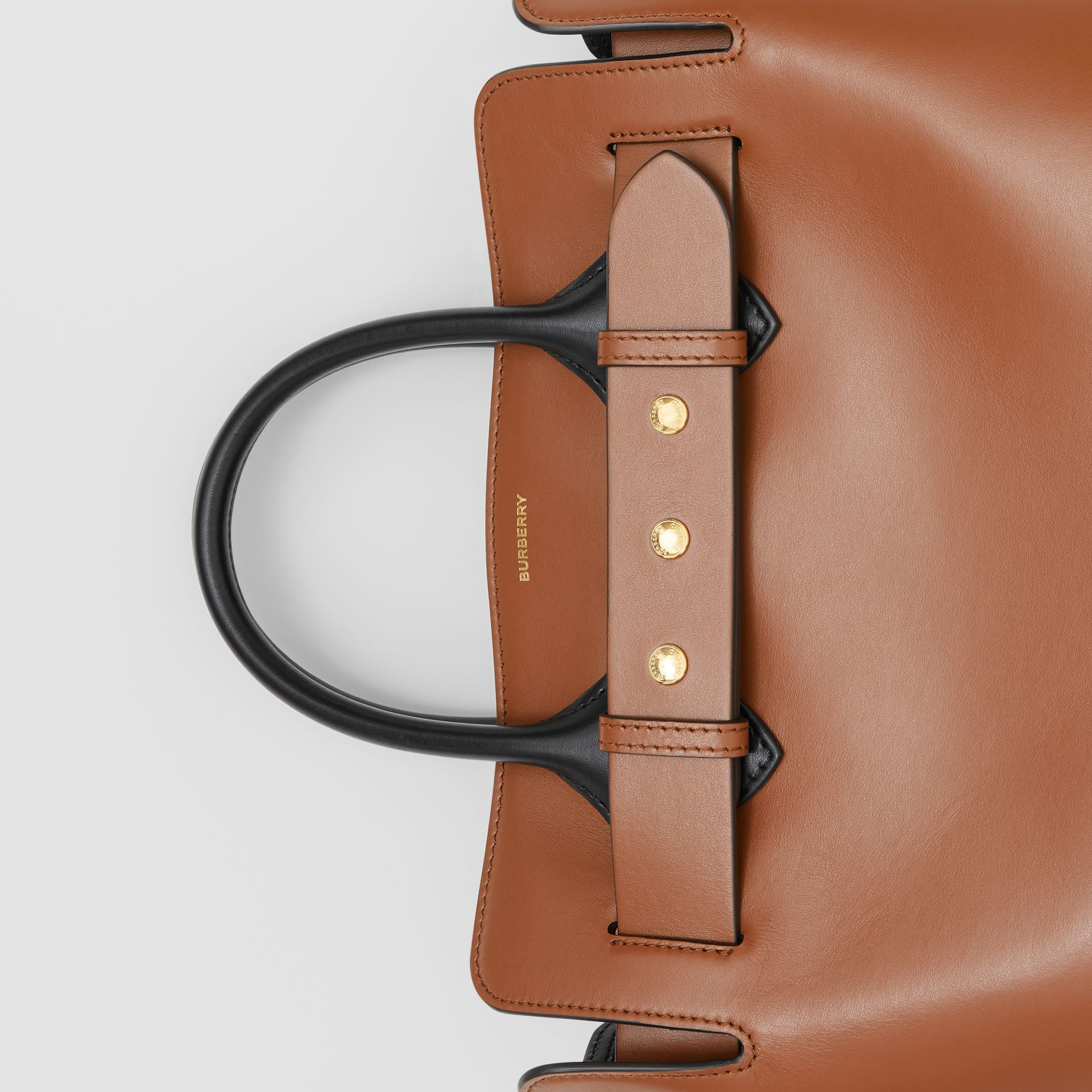 The Small Leather Triple Stud Belt Bag in Malt Brown - Women | Burberry Australia - gallery image 1