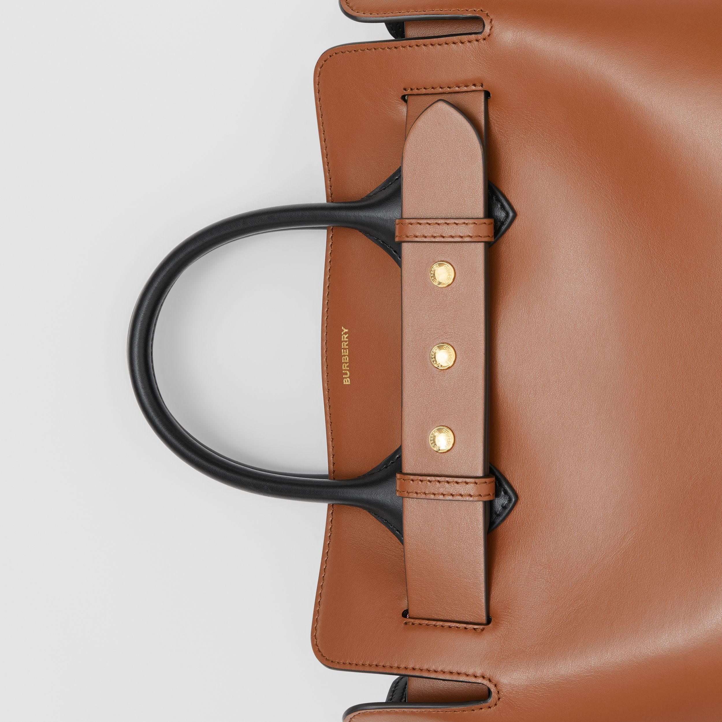 The Small Leather Triple Stud Belt Bag in Malt Brown - Women | Burberry - 2