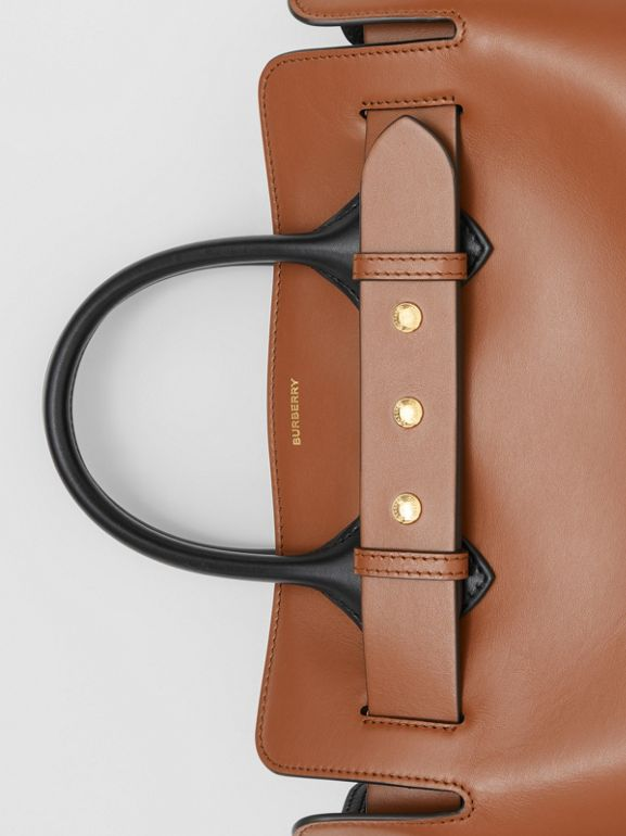 The Small Leather Triple Stud Belt Bag in Malt Brown - Women | Burberry - cell image 1