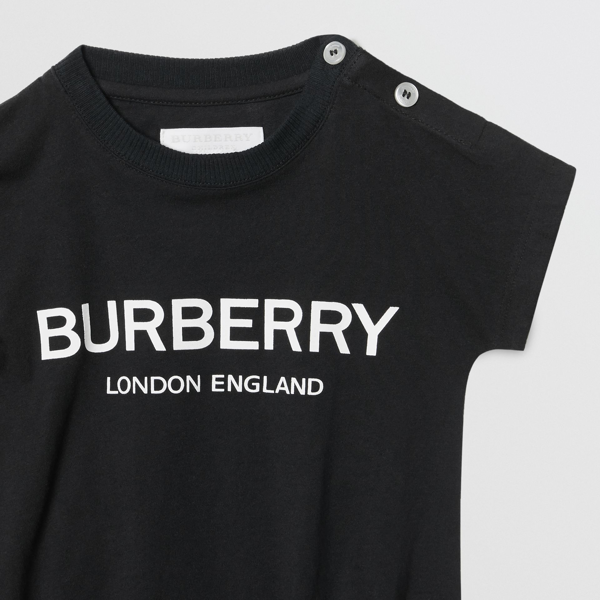 Logo Print Cotton Four-piece Baby Gift Set in Black/white - Children | Burberry Singapore - gallery image 6