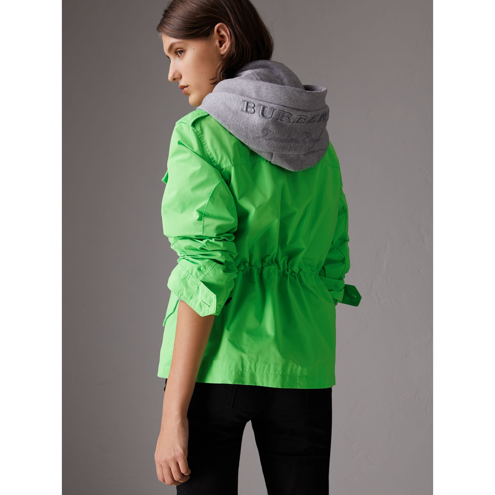 Taffeta Field Jacket in Neon Green - Women | Burberry - gallery image 2