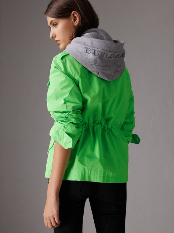 Taffeta Field Jacket in Neon Green - Women | Burberry - cell image 2
