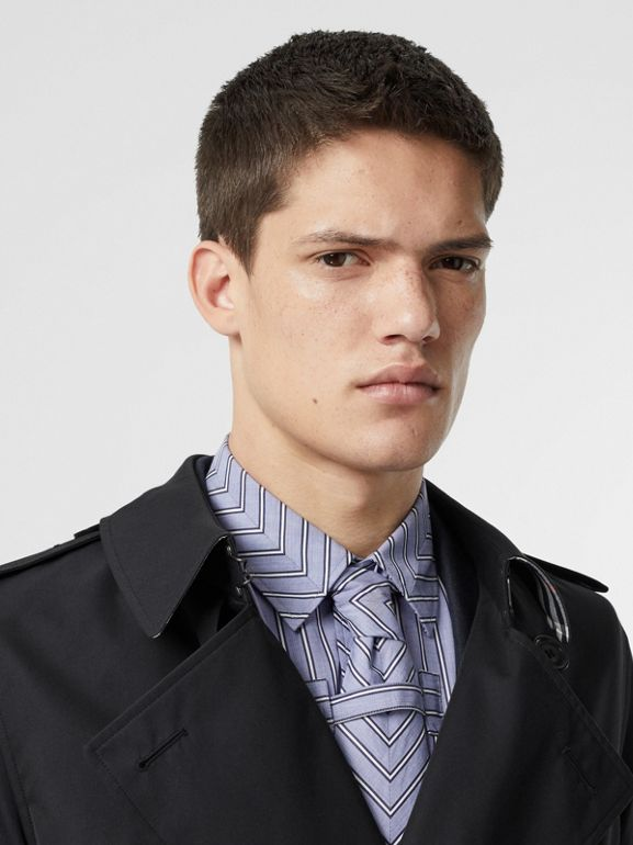 Cotton Gabardine Trench Coat in Midnight Navy - Men | Burberry United Kingdom - cell image 1