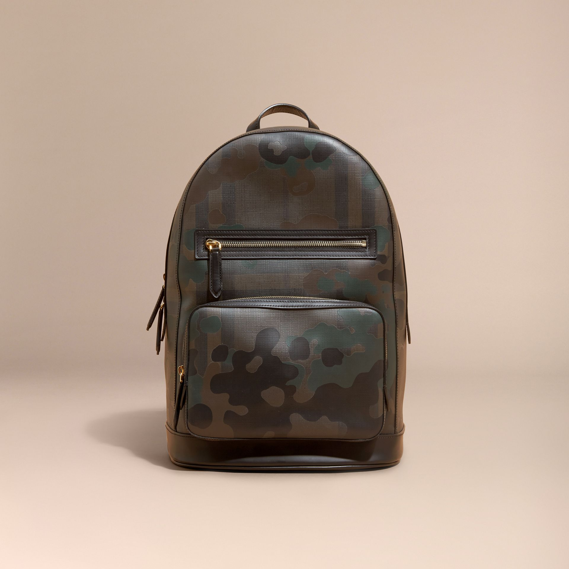 Chocolate Camouflage Print London Check Backpack - gallery image 8