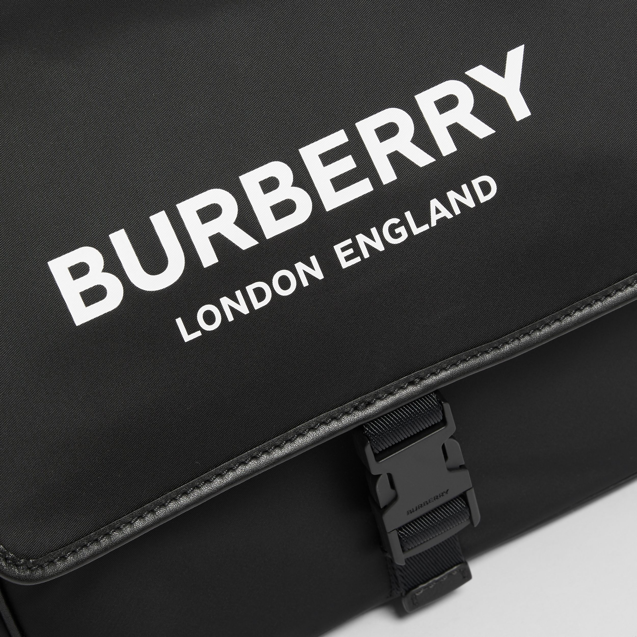 Logo Print Baby Changing Bag in Black - Children | Burberry - 2
