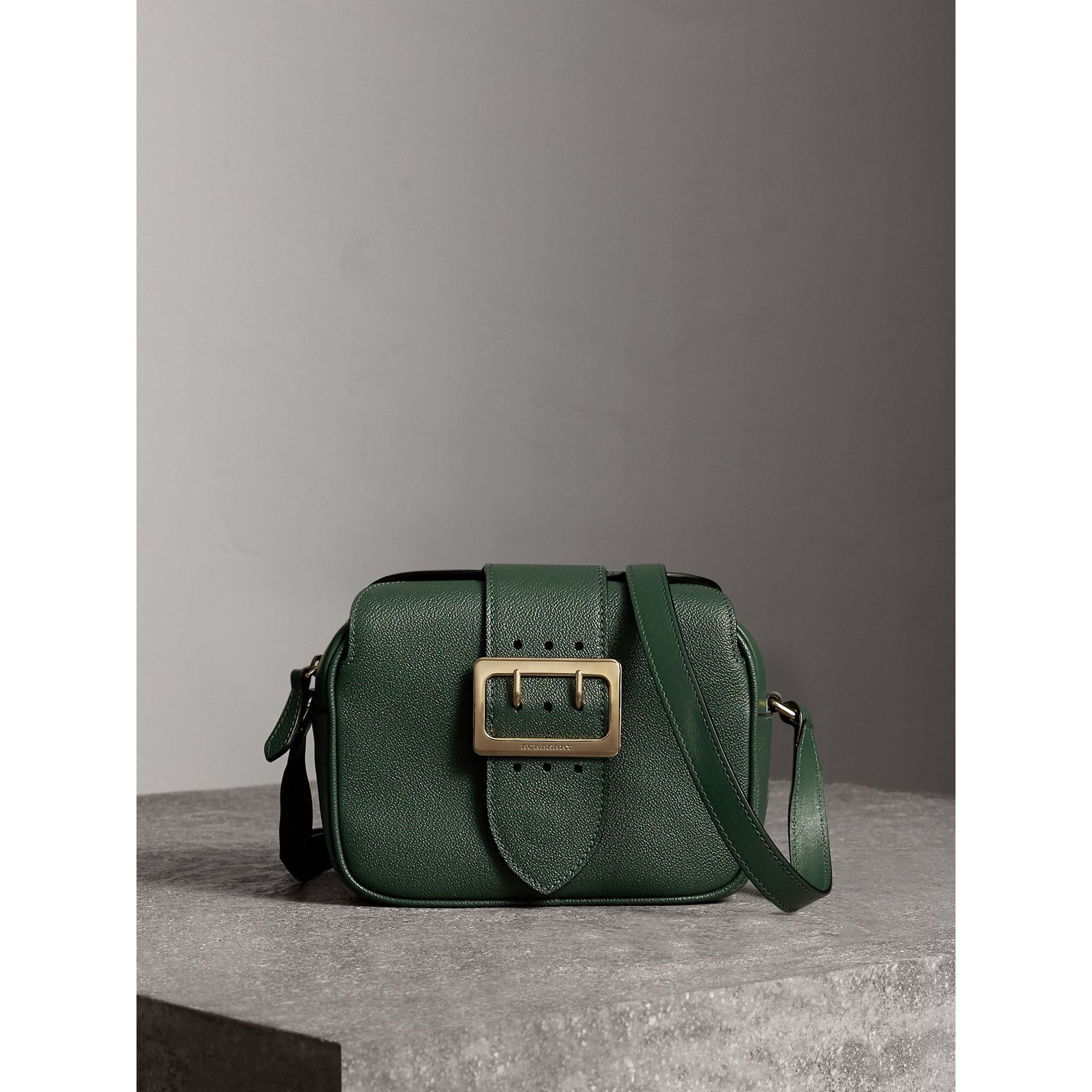 The Small Buckle Crossbody Bag in Leather in Sea Green - Women | Burberry Australia - gallery image 1