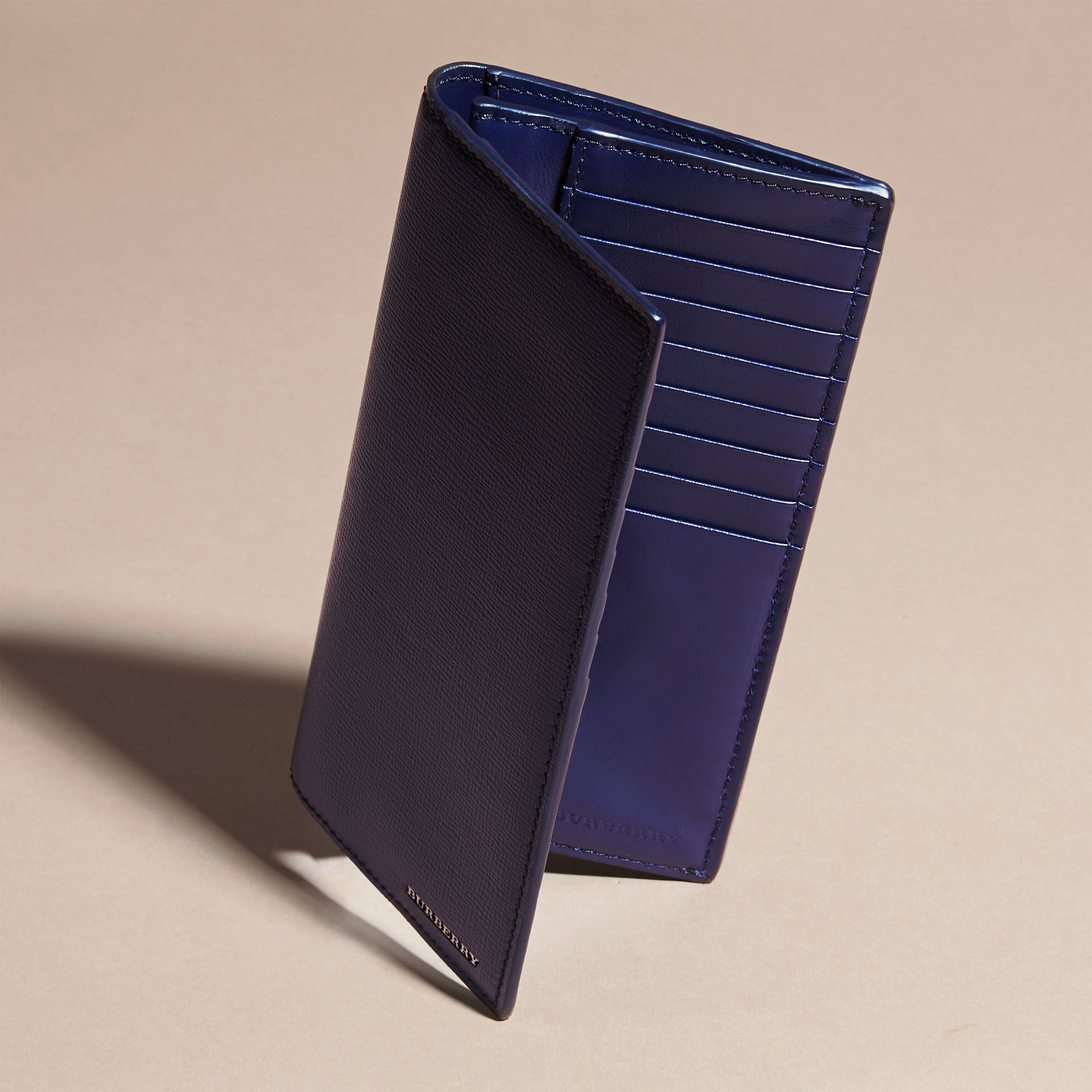 London Leather Continental Wallet in Dark Navy - gallery image 5