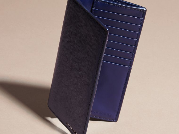 London Leather Continental Wallet in Dark Navy | Burberry United Kingdom - cell image 4