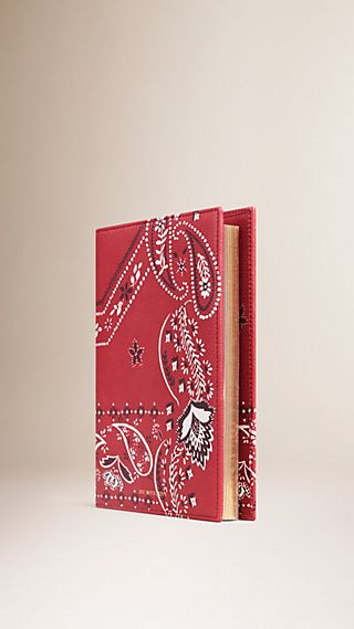 Paisley Print Grainy Leather 18 Month 2015/16 A5 Diary