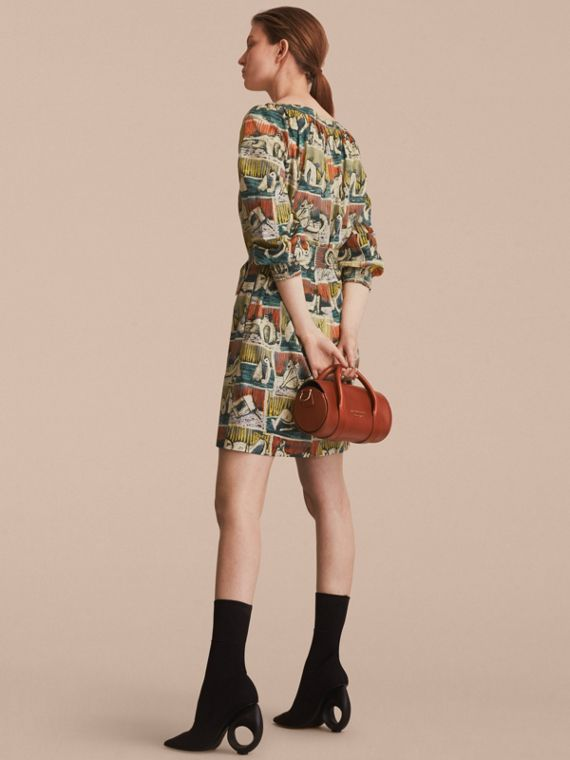 Reclining Figures Print Cotton Tunic Dress - cell image 2