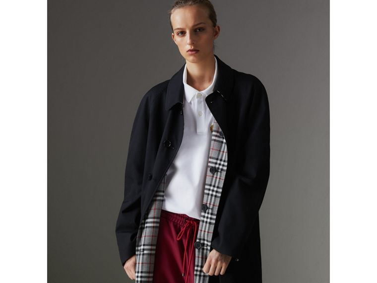 Reissued Reversible Car Coat in Black - Women | Burberry Australia - cell image 4