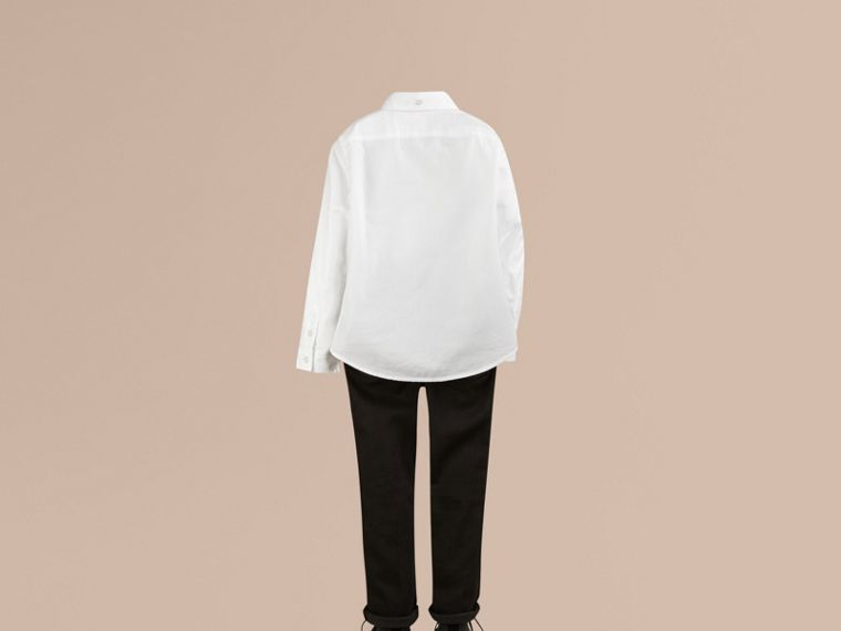 Classic Oxford Shirt in White - Boy | Burberry Australia - cell image 2