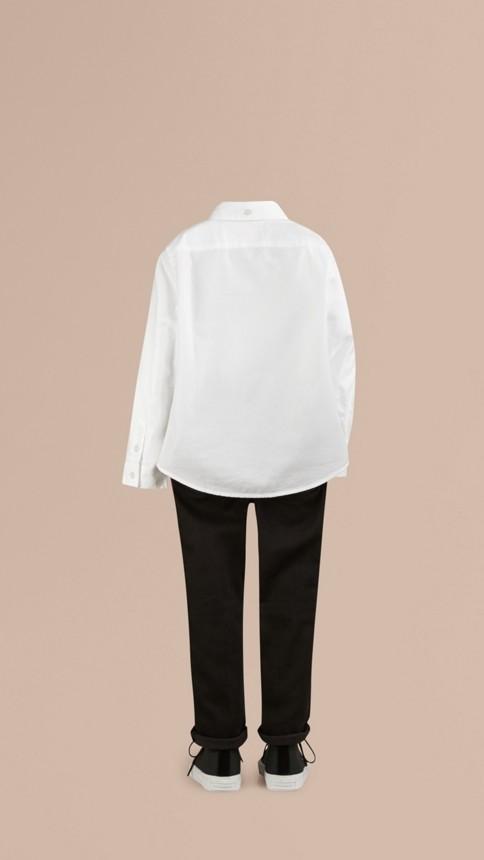 Blanc Chemise Oxford classique Blanc - Image 3