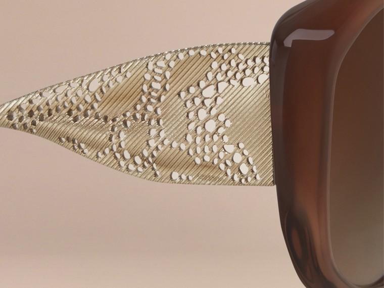 Ambra scuro Occhiali da sole con montatura quadrata collezione Gabardine Ambra Scuro - cell image 1
