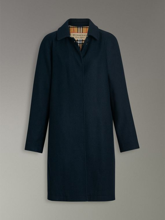 Cashmere Car Coat in Navy - Women | Burberry - cell image 3