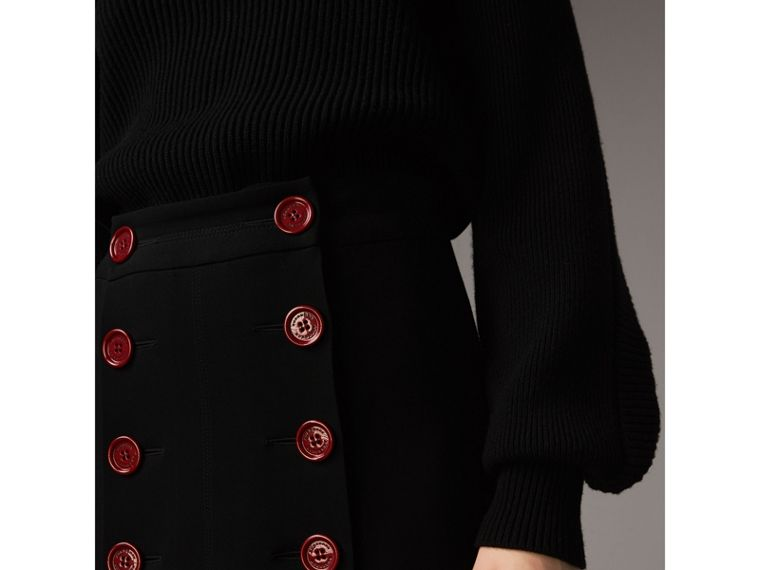 Resin Button Double-breasted Tailored Skirt - Women | Burberry - cell image 1