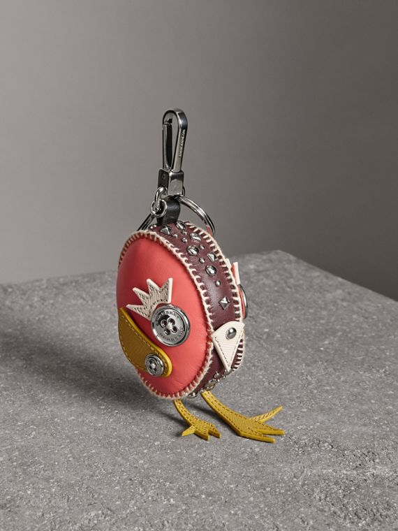 Derek The Bird Leather Charm in Deep Claret